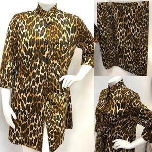 KASPER Animal Print Skirt-suit   16/20